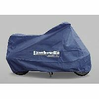 Scooter Cover Waterproof Tie Round Blue With Pouch Lambretta Logo