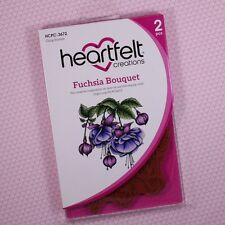Heartfelt Creations Cling Rubber Stamp Fuchsia Bouquet, HCPC3672 DISCONTINUED!