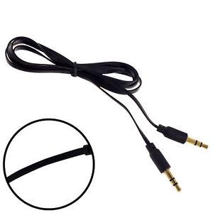 1m 3.5mm Stereo Mini Jack Audio Cable - Flat Anti Tangle - For Car PC Speaker