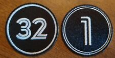 (2) Toronto Blue Jays Memorial Jersey Patch - Tony Fernandez / Roy Halladay