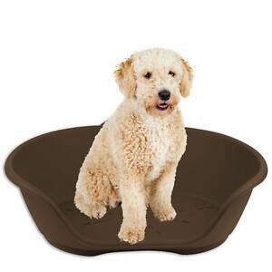 Heavy Duty Plastic Waterproof Pet Dog/Cat Bed Basket or Cushions Large