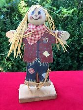 PRIMITIVE Happy Harvest Halloween Fall SCARECROW Wood Decor Wizard Of Oz Doll  @