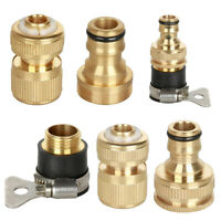 Universal Garden Watering Water Hose Pipe Brass Connector Adaptor Fitting