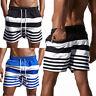 Mens Summer Beach Board Shorts Surf Sport Swim Wear Trunks Pants Swimsuit Stripe