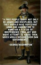 George Washington Gun Rights Man Cave SIGN 4x6 magnet Fridge Bar Toolbox Shop