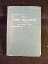 Daily Monthly Bible Topics by Lucille F. Gibson (Hardcover, 1946) Author Signed