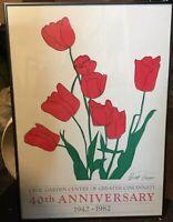 Brett Harper (Charley) Tulip Plants Signed Print 1982 Flowers Cincinnati