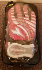 Diadora Cosmo Soccer Goalie Gloves - Size 8 - Red/White/Silver - NEW