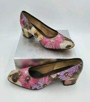 Vintage 60's JOSEPH LAROSE Multi-color Floral Pumps Shoes Size - 6.5