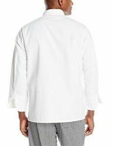 Chef Designs Men's RK Ten Pearl Button Chef Coat Small Regular White Uniform