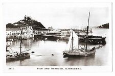 Pier & Harbour, Ilfracombe RP PPC no 5872, Coasters & Tug at Anchor,