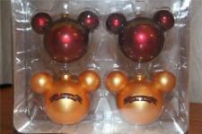 Disney Mickey Mouse Christmas Ornaments (4) NIB