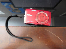 Nikon COOLPIX S3500 20.1MP Digital Camera Red Point and Shoot For Parts Only