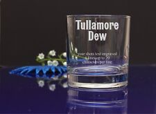 Personalised TULLAMORE DEW your message Engraved Whisky/Tumbler Gift Glass-78