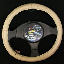 Oxgord Genuine Leather Steering Wheel Cover in Beige SWGL 20 BG
