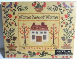 Vintage Springbok Home Sweet Home Sampler Jigsaw Puzzle Sealed NOS 400PZL4046