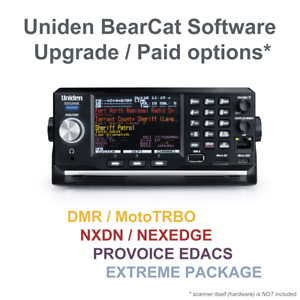 Uniden Bearcat DMR / NXDN / ProVoice / Extreme software upgrade / paid option