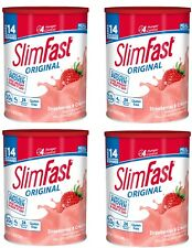 SlimFast Nutrition Meal Replacement Strawberry Shake Weight Loss 12 Oz (4 Pack )