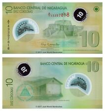 Nicaragua 10 Cordobas 2007 (2012) Polymer P-201b 1st Prefix 'A1' Banknotes  UNC