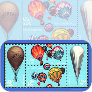 1983  BALLOONS  Se-Tenant  BLOCK of 4  MINT Attached  Stamps  # 2032-2035 2035a