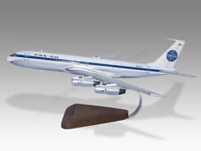 Boeing 707 Pan Am Solid Mahogany Wood Handcrafted Display Model