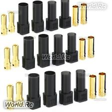 6 Pair XT150 6mm Large Current Motor Bullet Connector Male/Female w/Sleeve Black