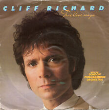 "CLIFF RICHARD - TRUE LOVE WAYS - PS - 80's - 7"" VINYL"