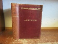 Old AGRICULTURE Leather 1896 MACHINERY TOOLS PLOW CROPS ANTIQUE FRENCH FARMING +