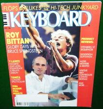 1986 Keyboard Magazine, Roy Bittan Glory Days w-Springsteen, KURZWEIL Midiboard