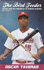 2013 Louisville Redbirds Minor League Baseball Program Oscar Taveras on Cover