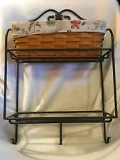 Longaberger Wrought Iron Envelope Rack w/Classic Stain Basket and Liner