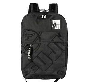 Fuji Sports Black Lifestyle BackPack Back Pack Great for Work School or Training