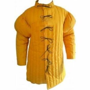 Medieval Thick Padded Gambeson suit of armor quilted costumes theater larp WERP