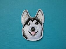 Siberian Husky Dog Embroidered Patch Applique Iron On Sew On Patch Embroidery
