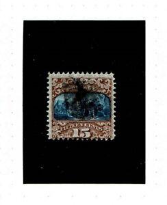Scott U.S. used stamp #119 15c Landing of Columbus, bright and bold!
