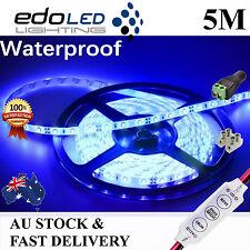 12V Blue Waterproof Flexible LED Strip Lights 5M 300 LED 3528 SMD Light car boat