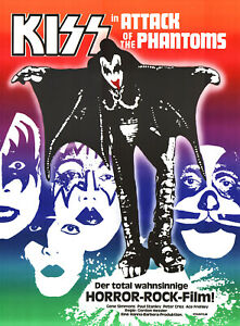 KISS in Attack of the Phantoms ORIGINAL schweizer Kinoplakat Gene Simmons MUSIK
