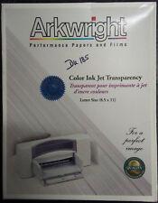 Arkwright Color Inkjet Printer Transparency Film, Letter A4 Size - 50-Pk