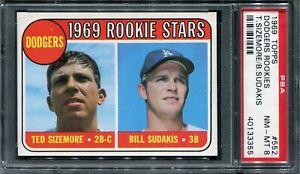 1969 Topps #552 Dodger Rookies Sizemore/Sudakis PSA 8 NM-MT