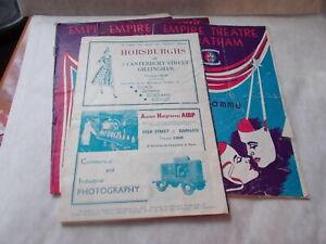 4 EMPIRE THEATRE CHATHAM PROGRAMMES 1952.great nostalgia