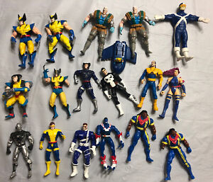 Vintage Toy biz Marvel Legends X-men & X-Force Action Figure Bundle of 18