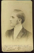 1890 HANDSOME YOUNG DOCTOR GENTLEMAN Profile Vintage Picture Photo Photograph