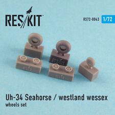 Resin Wheels for Uh-34 Seahorse / Westland Wessex all versions 1/72 Reskit 72-43