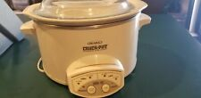 Rival Crock Pot Slow Cooker Removable Stoneware Kitchen Appliance with glass lid