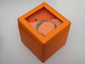 Wolf Watch Winder - Cubs Single with Cover Orange - Ex-Display RRP £239