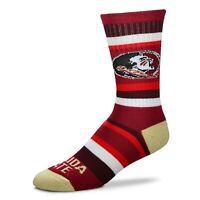 For Bare Feet Florida State Seminoles Rainbow Stripe Crew Socks
