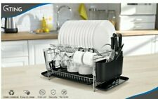 2 Teir Dish Rack By Gting Stack your dishes in this tidy compact dish drainer.