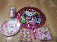 5pc Lot 2010 Amscan Hello Kitty Birthday Multi-color Party Goods  NOS