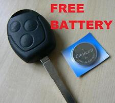 FORD Mondeo Fiesta Puma Focus KA TRANSIT REMOTE FOB KEY CASE  WITH FREE BATTERY