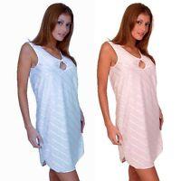 Plus Size Lingerie Sizes 1X 2X 3X 4X  Blue or Pink Stripe Chemise  5598X